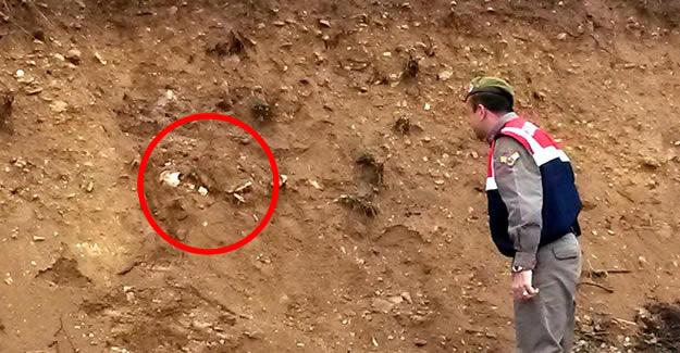 Bisikletle gezen çocuklar insan iskeleti buldu