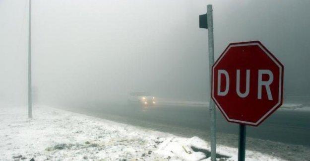 Kar ve sis Bolu Dağı'nda ulaşımı yavaşlattı