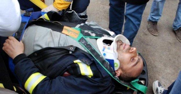 Platformdan düşen teknisyen yaralandı