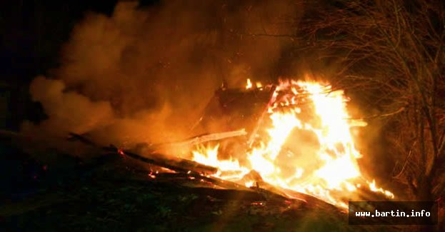 Samanlıkta yangın