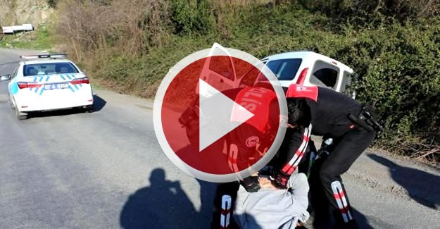 Uyuşturucu kullandığı iddia edilen sürücü kaza yaptı