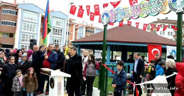 23 Nisan Parkı Açıldı