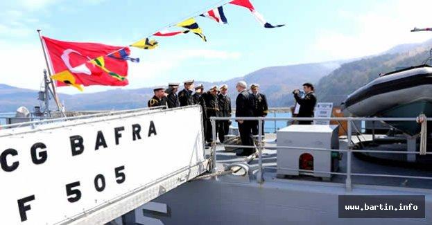 TCG Bafra Savaş Gemisi Bartın'da