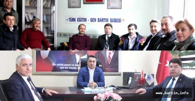 Türk Eğitim Sen ve Meso'ya Evet Ziyareti
