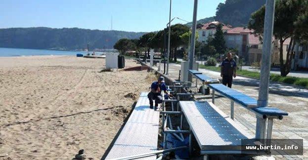 İnkumu Plaj Futbol Turnuvası İçin Tribün