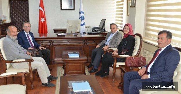 ÖSYM Başkanından Rektör Uzun'a tebrik ziyareti