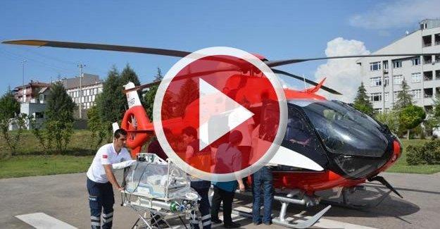 Suriyeli bebek, hava ambulansı ile sevk edildi