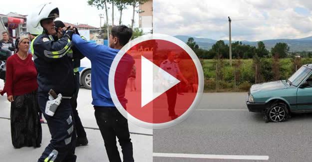 Çocuk sürücü kaçtı ve babası polise zor anlar yaşattı
