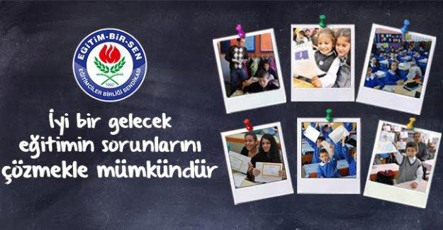 İyi bir gelecek eğitimin sorunlarını çözmekle mümkündür