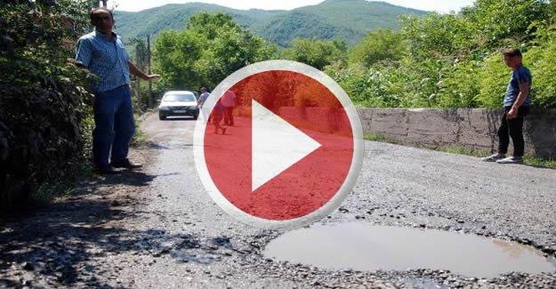 Köylüler yol kapatarak eylem yaptı