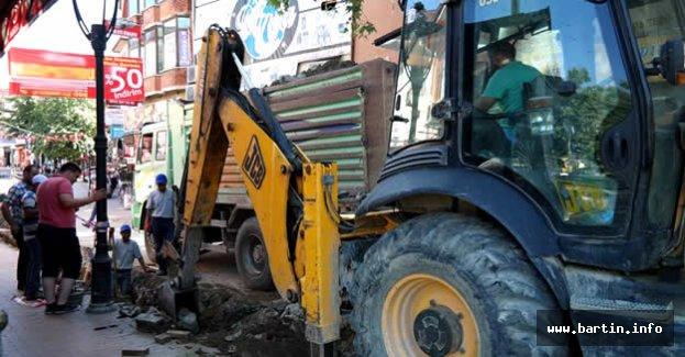 Şadırvan Caddesi'nde Doğalgaz Çalışmaları Başladı
