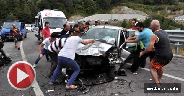 Amasra'da Feci Kaza: 6 Yaralı