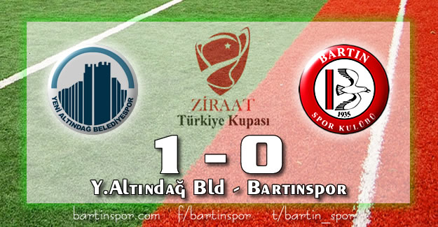 Bartınspor Kupadan Elendi: 1-0