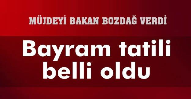 Beklenen Haber Geldi, Bayram Tatili 10 Gün