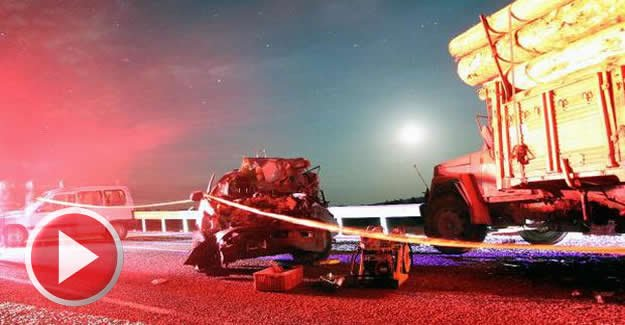 Kamyonla çarpışan kamyonetin sürücüsü öldü
