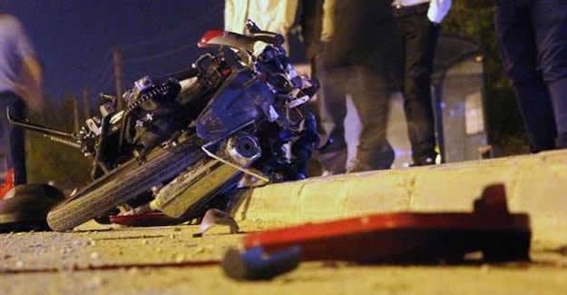 Kamyonla çarpışan motosiklet sürücüsü ağır yaralandı