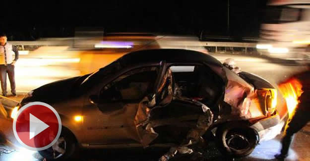 Kazalar nedeniyle uzun araç kuyrukları oluştu