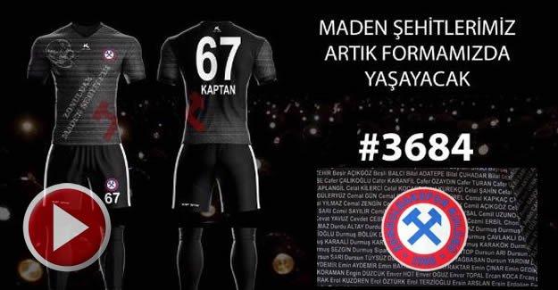 Zonguldakspor 3 bin 684 şehit madencinin ismiyle sahaya çıkacak