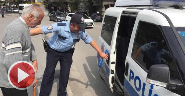 Elinde 20 bin lira ile gezen yaşlı adama polis koruması