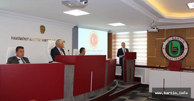 Meclis Yeni Salonda Vali'yi Ağırladı