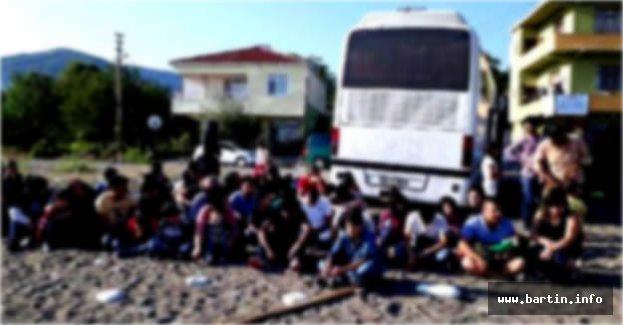 Romanya'ya gitmek isteyen 156 Suriyeli yakalandı