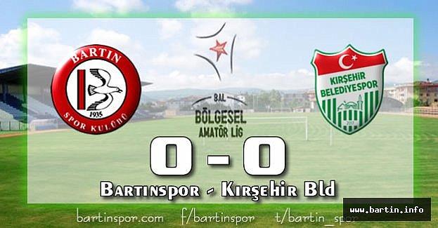 Bartın'da Sessiz Pazar: 0-0