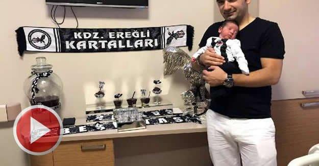 Bebeğinin hastanedeki odasını 'Kartal Yuvası'na dönüştürdü
