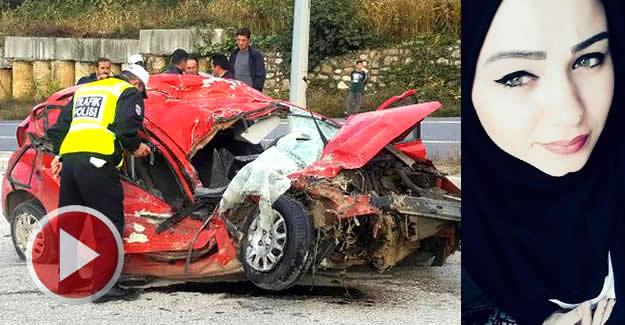 Kamyonla çarpışan otomobildeki genç kız öldü