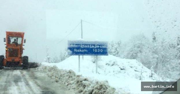 Bartın - Karabük Yolunda Yoğun Kar