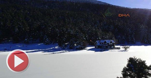 Gölcük ve Abant'tan kar güzelliği