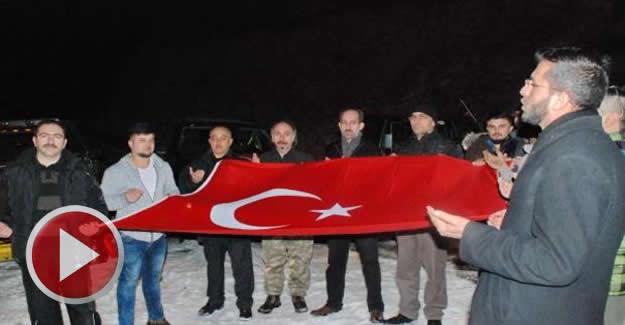 2600 metre rakımlı tepede Mehmetçik için dua ettiler