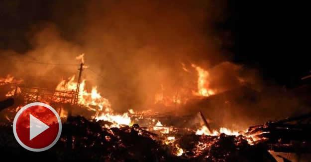 Korkutan köy yangını