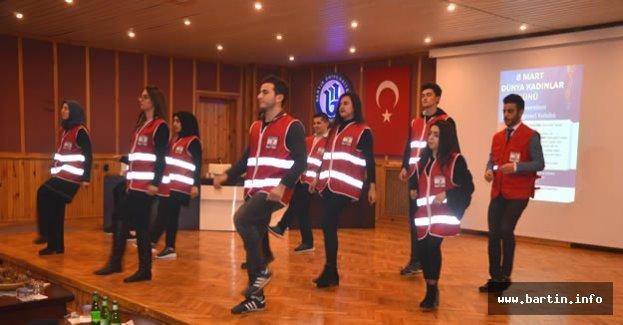 Bartın'da Kadına Şiddete Hayır Dansı