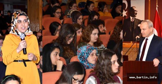 Bartın Valisi tecrübelerini öğrencilerle paylaştı