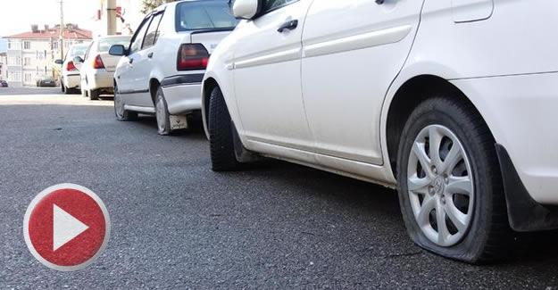 Sevgilisinden ayrılınca, 30 aracın lastiklerini kesti