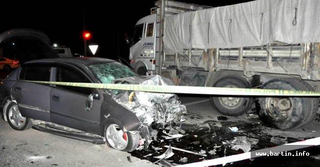 Bartın'da Feci Kaza: 2 ölü, 4 yaralı