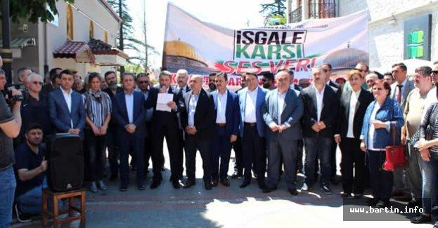 Bartın İsrail'e Karşı Tek Ses