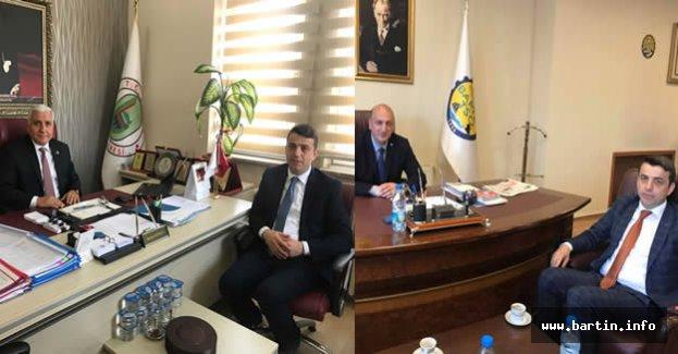 Yıldırım'dan TSO ve Meclis Başkanına ziyaret