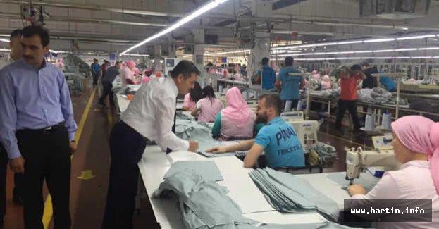 Arslan OSB'deki Fabrikaları Gezdi