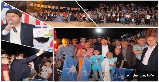 Tunç'a Kozcağız'da Sevgi Seli