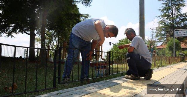 Fatih Parkı'nda Bakım Çalışması