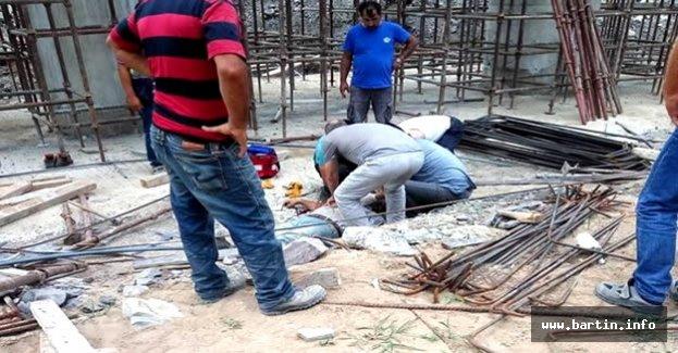 Viyadük inşaatında iskeleden düşen işçi öldü