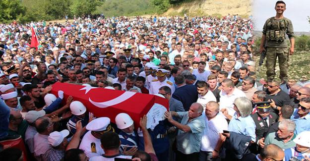 Zonguldaklı şehidi, binlerce kişi uğurladı