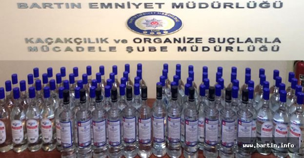 Bartın'da Sahte İçki Operasyonu