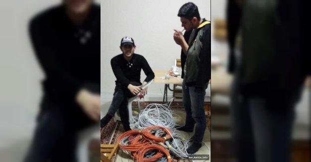 2 Kablo Hırsızı Tutuklandı