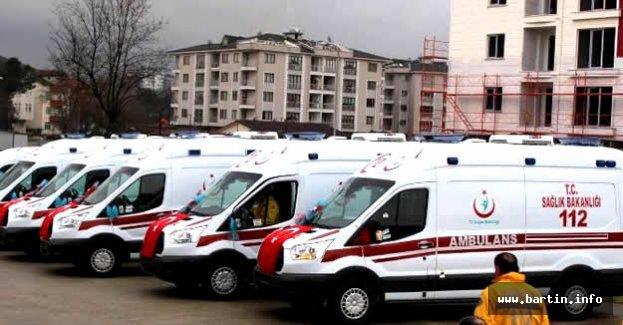 112 Acil Hizmetlerine 7 Yeni Ambulans