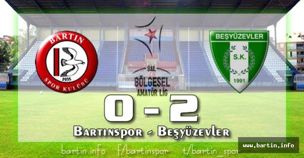 Bartınspor Ligi Bitirdi: 0-2