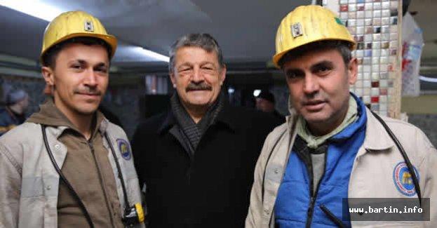 Başkan Akın Madencileri Ziyaret Etti