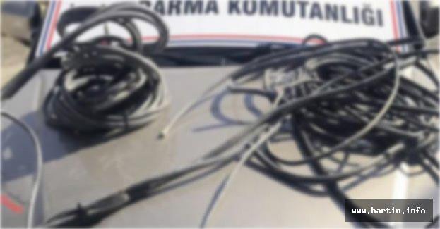 Köyden Kablo Çalan 3 Kişi Tutuklandı