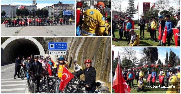 Pedaldaşlar'dan Şehitlere Saygı Turu